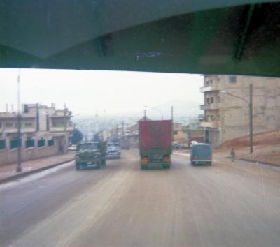 Down the hill into Hama City