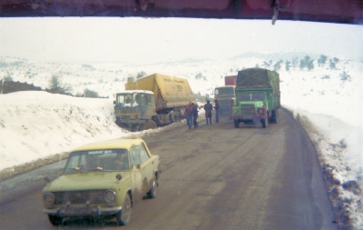 Dutch truck Andy tried to tow out, Bolu plateau