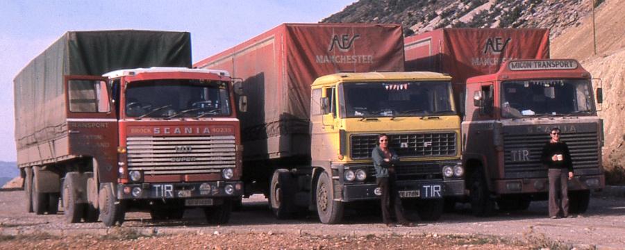 John Hallibone & Andrew West with GFV140N, GFE176N & KRM731L, nr Belen, southern Turkey