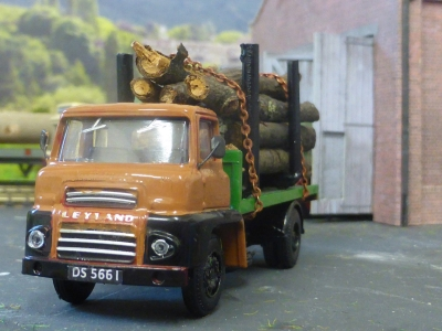 Johns Leyland with timber load, new chains regsmall